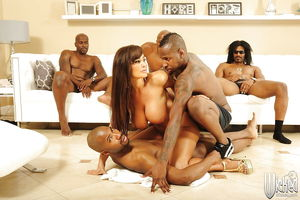 Lisa Ann is into interracial gang-bang..