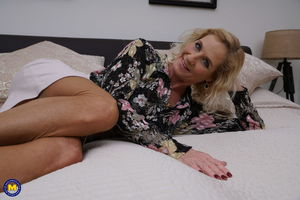 Mature blond Molly gets boned and..