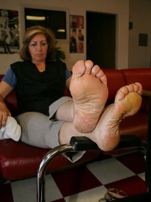 Who wouldnt sniff and lick these soles..