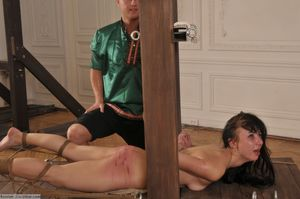 """Bound for a strong caning"".."