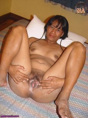 Mature Asian Lisa getting naked and..