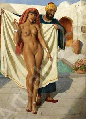Arabian Nude Girl At The Bath LA..