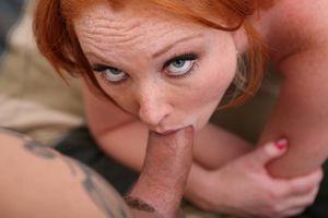 Slutty Redhead Enjoys Rough Double..