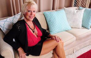 Blond 74yo granny Mandi has big tits..