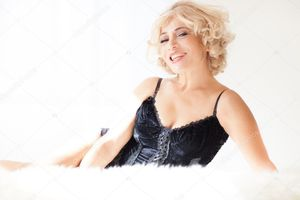 Sexy Beautiful Blonde woman - Stock..