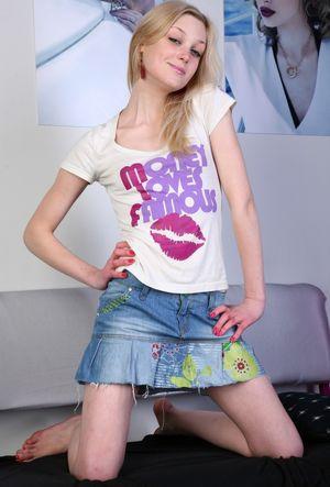 Cute blonde teen getting banged -..
