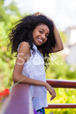 Outdoor Portrait of A Teenage Black..