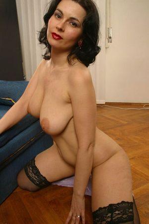 Horny Big Boobed Wife In Black..