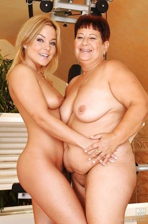 Mature lesbian with big hooters is..