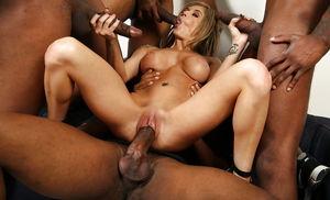 White and black orgy - Group - XXX..