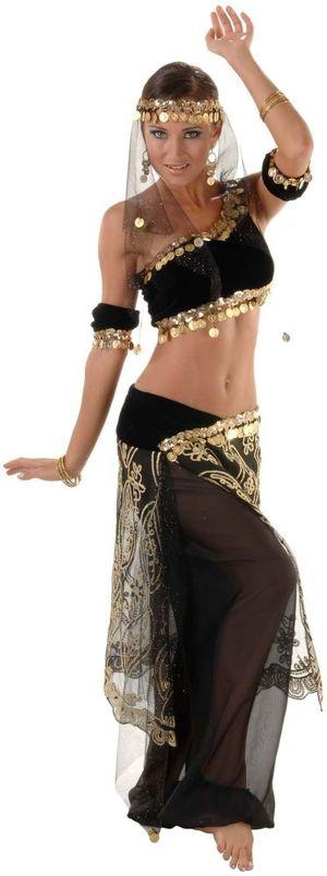 Deluxe Black Diamond Belly Dancer..