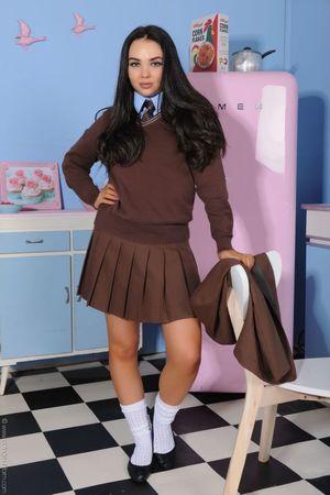 A teenage schoolgirl in her..