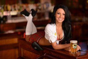 The hooters restaurant girls naked -..