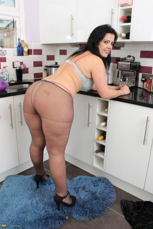 Dark haired housewife with big ass..