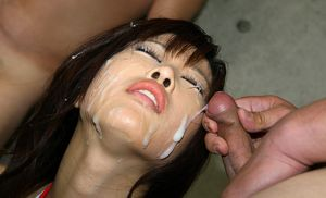 Cum on Asian Girls 3 / Bukkake Facial..