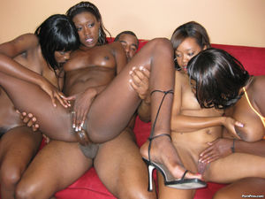 Pimps bring new black whores for group..