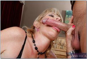 Mature blonde Tina Tosh sucking huge..