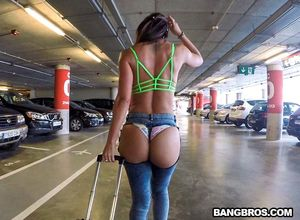 Anal sex in the airport garage with..