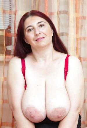 Mature busty huge long saggy - photos