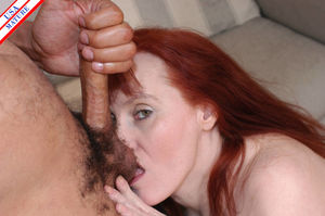 Red mature housewife doing what she..
