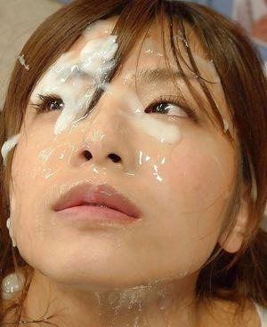 huge sticky japanese bukkake facial -..