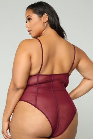 Show Me The Other Side Bodysuit - Plum..