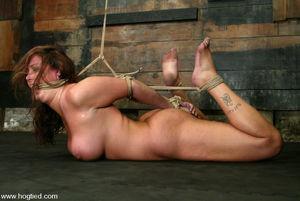 Huge boobed Christina Carter is bound..