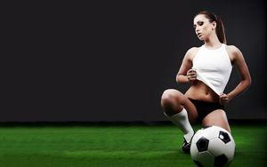 Sexy football beauty-Football sport..