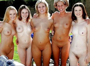 A Group Of Naked Woman Posing Nude -..