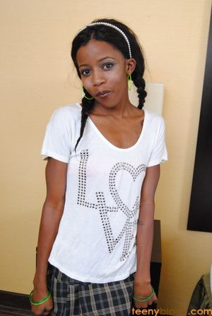 Naughty black teen girl in sexy..