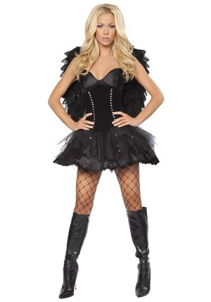 Devilish Dark Angel Costume -..