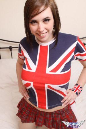 Busty British schoolgirl Lousia..