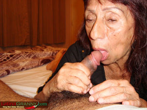 Latinagranny horny granny blowjob..