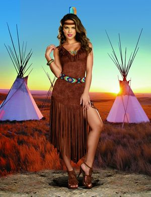 Womens Indian Tribe Costume - Trail by..