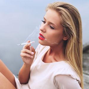 Images of Siri Svegler Smoking..