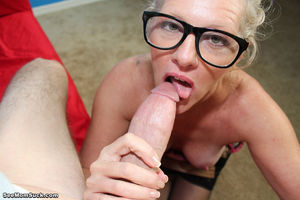 Mature Older Lady With Glasses..