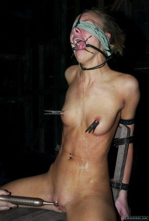 Forced Ring Gag Bondage Cum BDSM Fetish