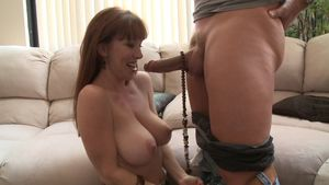 Redhead with Big Tits Gets to Her..