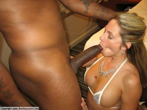 White cheating wife first black cock -..
