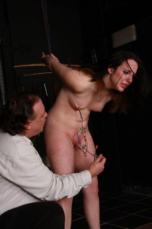 Metal clamped and extreme breast..
