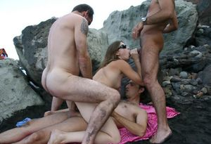 Desi Hot Fucking At Beach Rocks -..