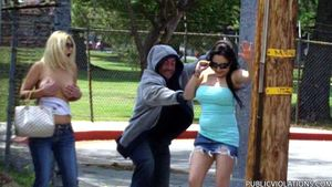 Violated babe in public exposed -..