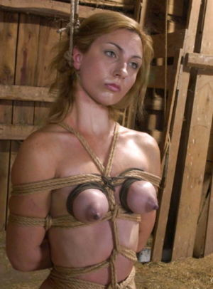 Big nippled tied tits & bondage -..