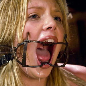 Bondage ring gag mouth fuck -..