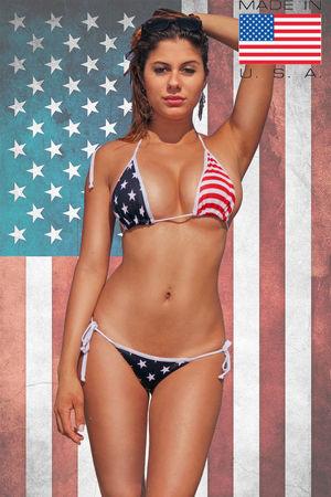 WOMEN'S JUNIORS SEXY USA FLAG..
