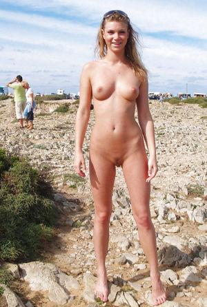 Nude girls on american beaches - Hot..