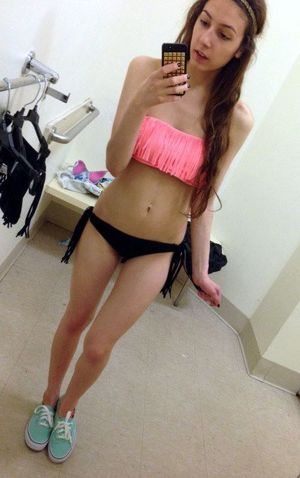 Naked selfies from young coed Clara