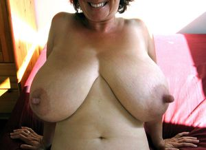 Mature breasts with big nipples..