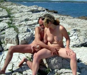 Classic nudism, naked couples..