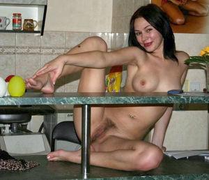 Charming brunette girlfriend stripping..